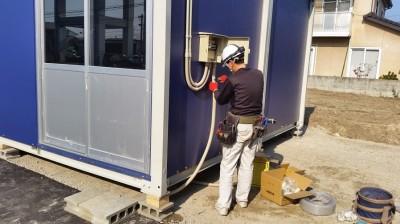 仮設用ハウス電気設備工事